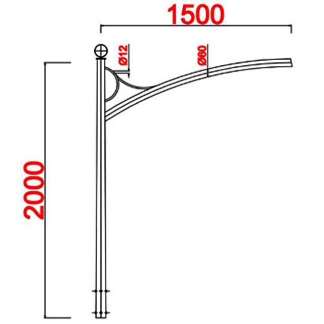 Cột đèn bát giác MB08-D