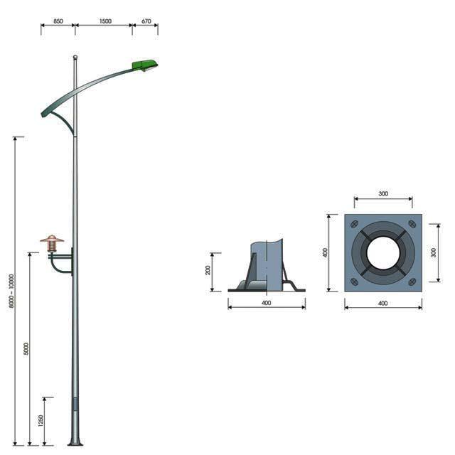 Cột đèn cao áp MB05-D