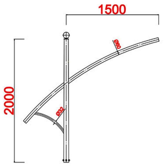 Cột đèn cao áp MB05-K