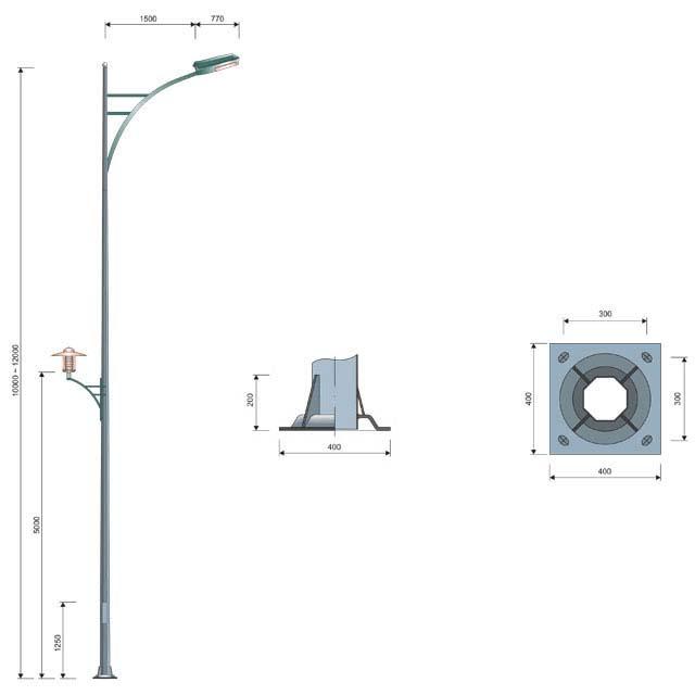 Cột đèn MB02-D