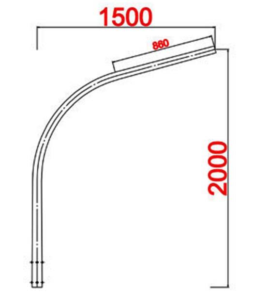 Cột đèn bát giác MB06