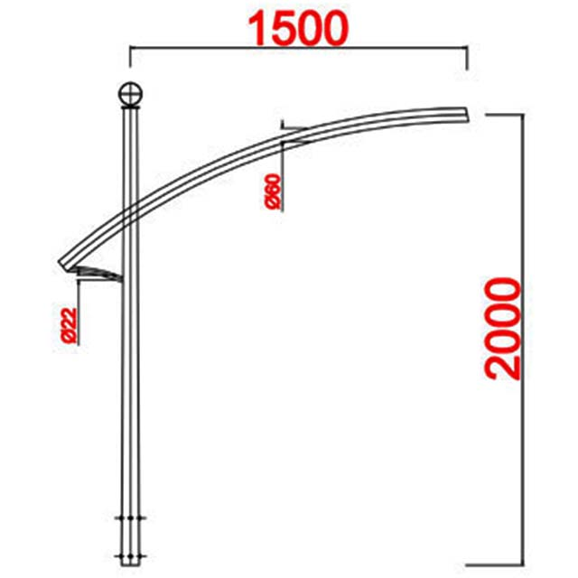Cột đèn bát giác MB07-D
