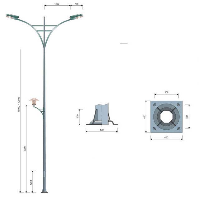 Cột bát giác MB02-K