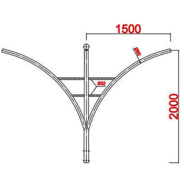 Cột thép bát giác MB02-K