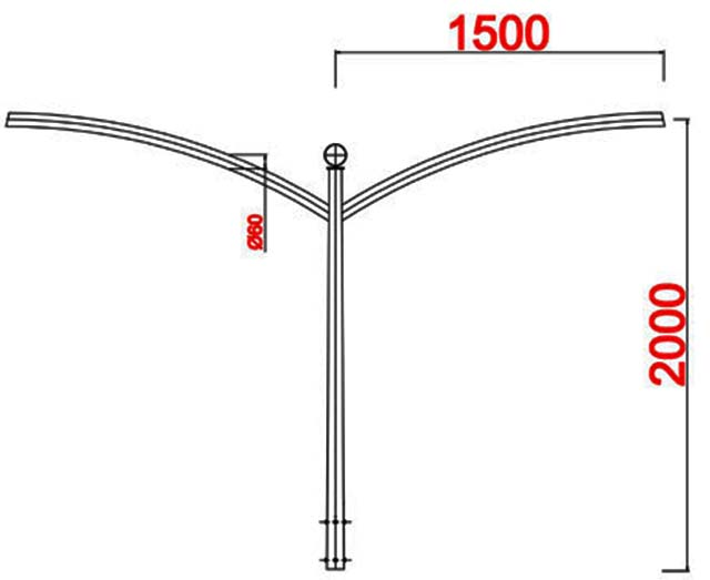 Cột đèn cao áp MB09-D