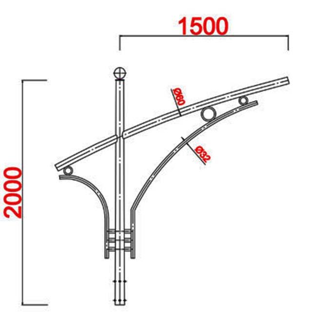 Cột đèn bát giác MB04-D