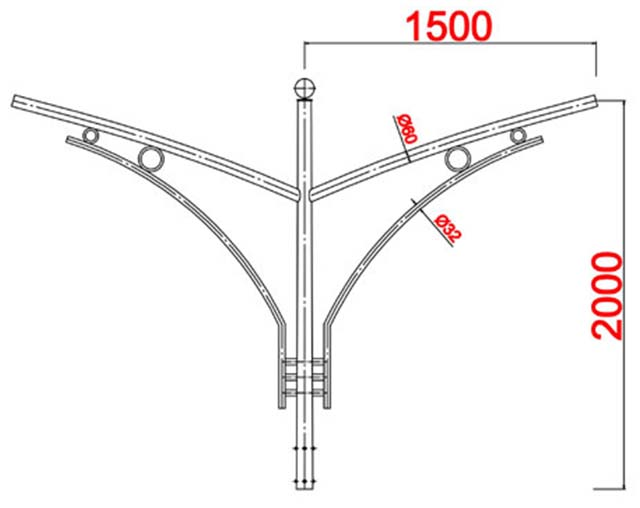 Cột đèn bát giác MB04