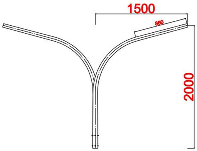 Cột đèn bát giác MB06-K DP05