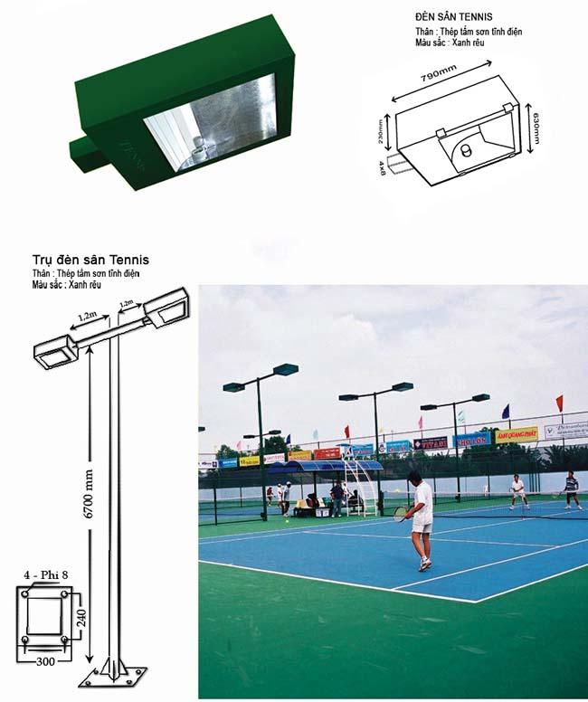 Đèn pha chiếu sáng sân tennis