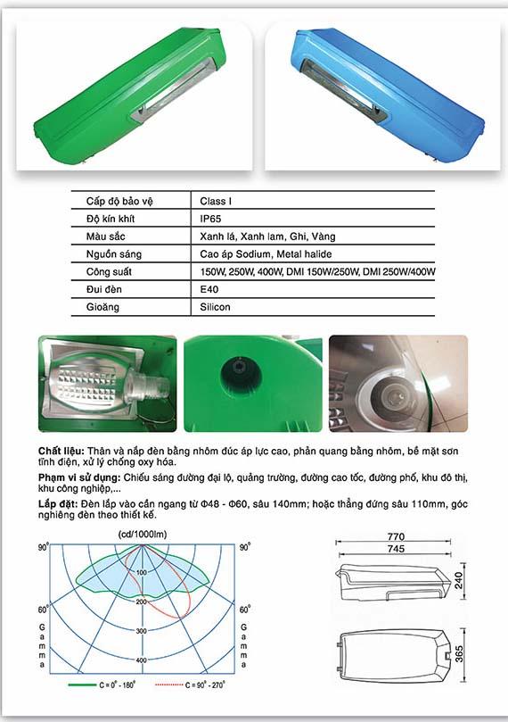 Thông số kỹ thuật của chóa đèn Delta