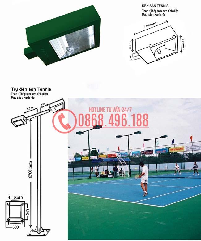 Cột Đèn Cao Áp Chiếu Sáng Sân Bóng tennis