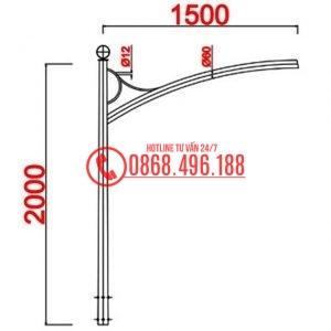 Cột thép bát giác MB08-D