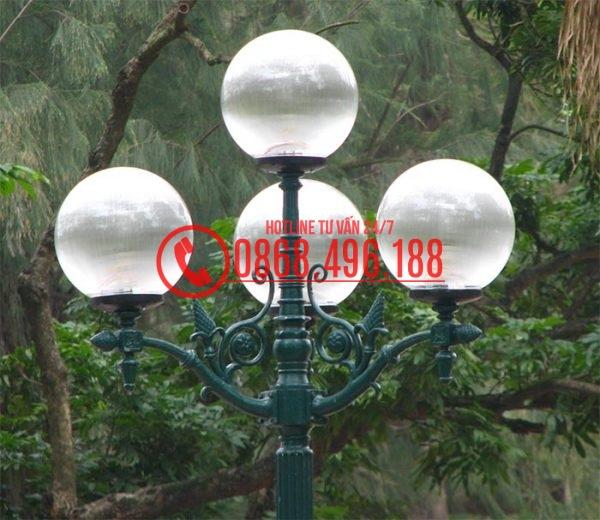 Chùm Đèn sân vườn cầu sọc D400