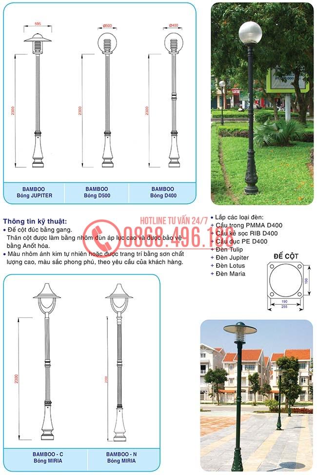 Cột sân vườn Bamboo