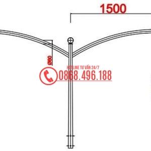 Cột đèn cao áp MB09-D cần kép