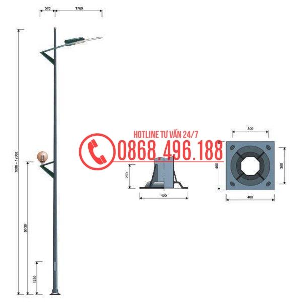 Cột đèn cao áp MB11-D