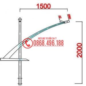 Cột đèn cao áp MB11-D cần đơn