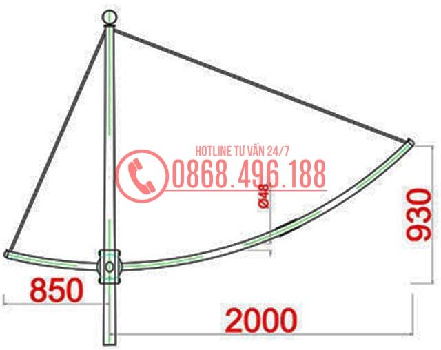 Cột đèn cao áp MB12-D1