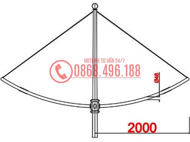 Cột đèn cao áp MB12-D2