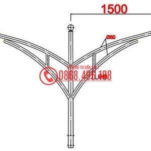 Cột đèn cao áp tròn côn MB03