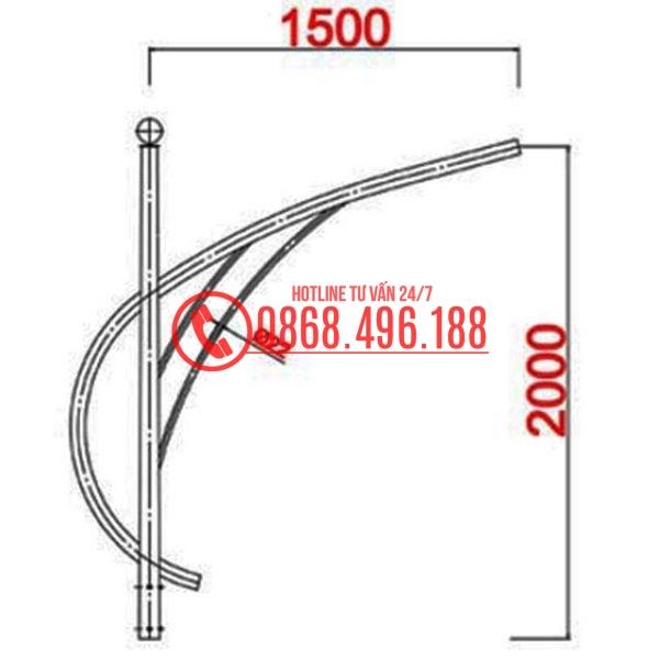 Cần Cột đèn bát giác MB01-D