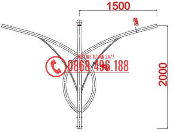 Cần đèn Cột thép bát giác MB01-K