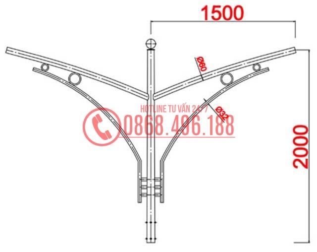 Cột thép bát giác MB04-K