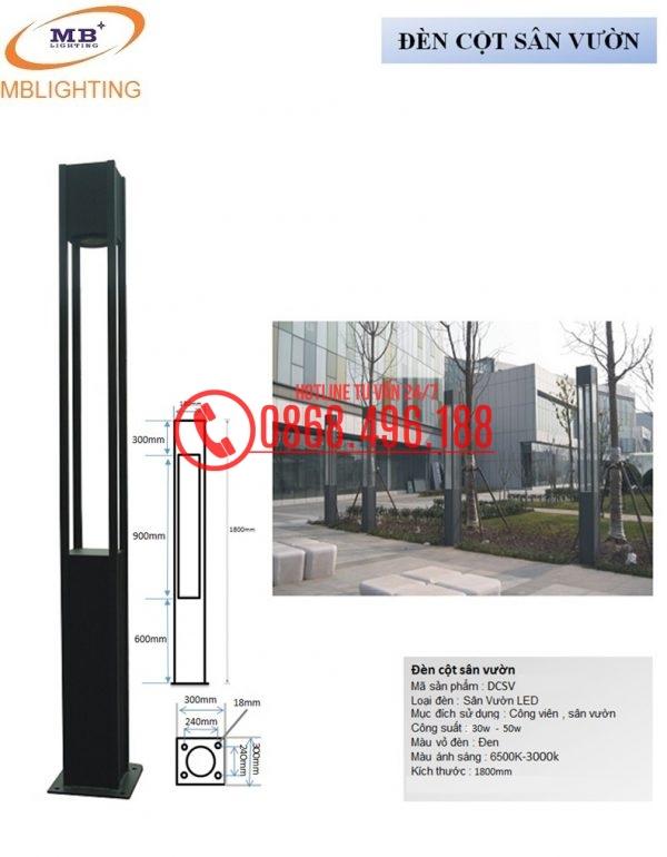 Cột đèn Sân Vườn Dcsv