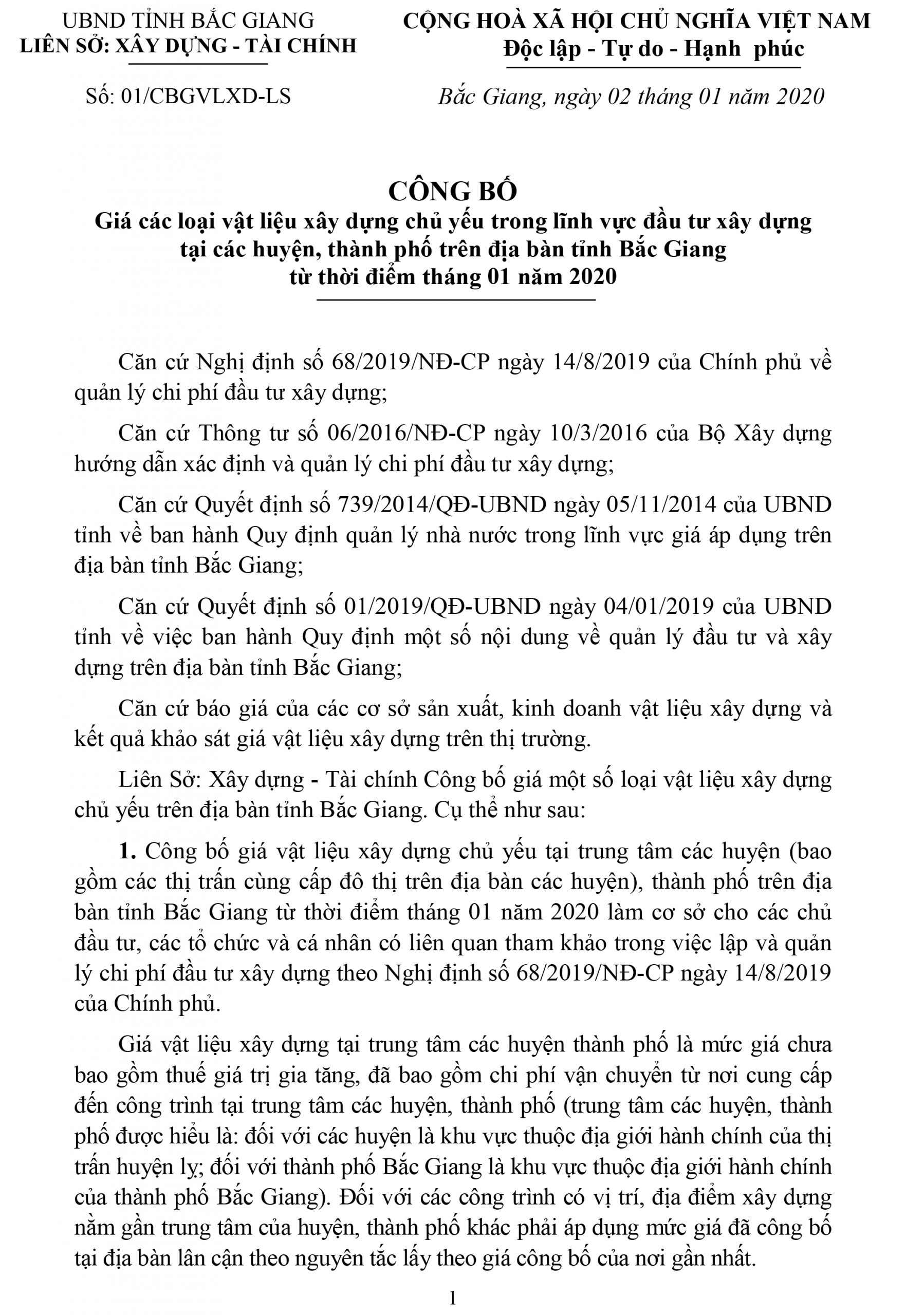 Bắc Giang Trang 1